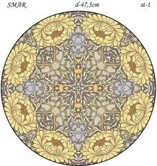 Эскиз для росписи, Круг диаметр-47,5см, SMAR-st-33