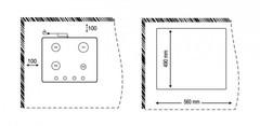 Варочная панель Korting HG 665 CTN схема