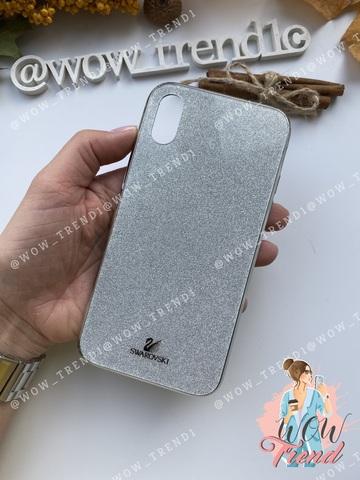 Чехол iPhone X/XS Swarovski Case /silver/