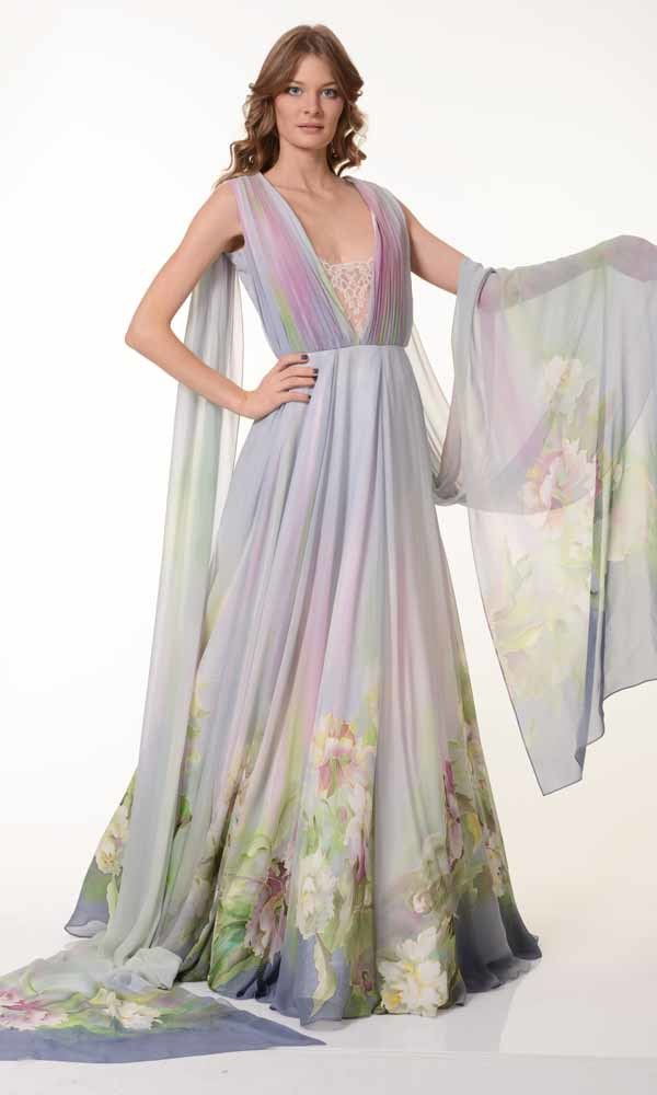 Вечернее платье Нежность пионов