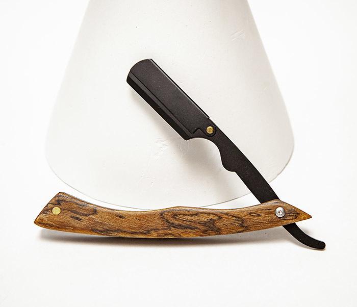 RAZ525-2 Бритва шаветка с деревянной рукояткой
