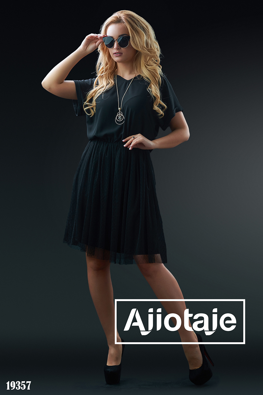 Платье черного цвета в стиле oversize
