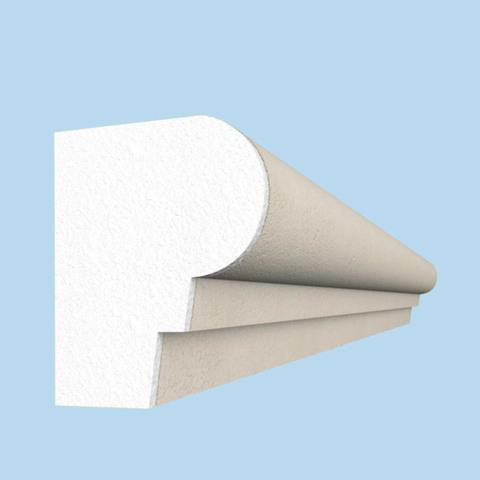 Цокольный пояс из пенопласта с покрытием.
