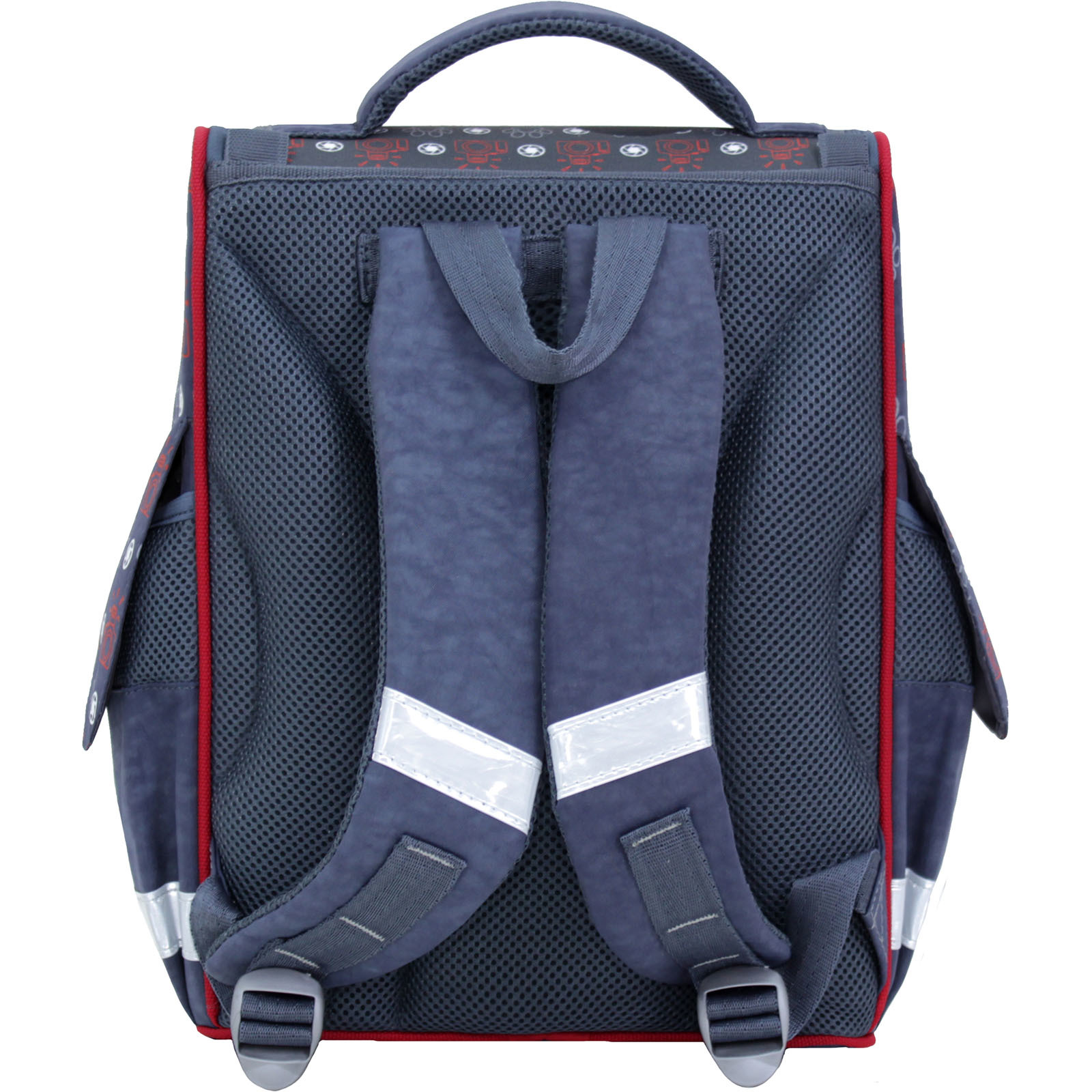 Рюкзак школьный каркасный с фонариками Bagland Успех 12 л. серый 188к (00551703)