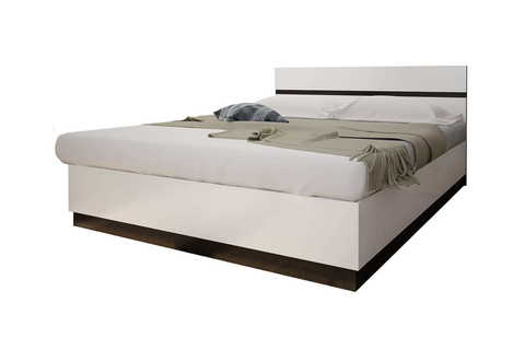 Кровать двуспальная Вегас 1,6 Горизонт венге, белый глянец