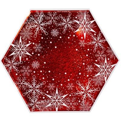 Тарелка фигурная Снежные Искры 25см 6ш