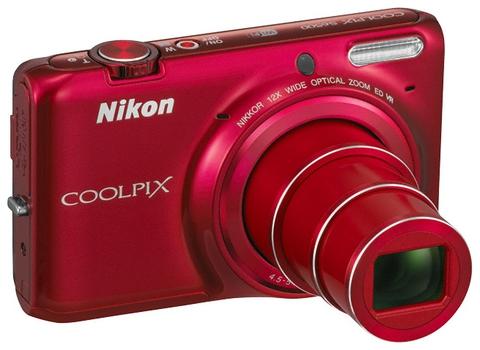Фотоаппарат цифровой NIKON Coolpix S6500 Red