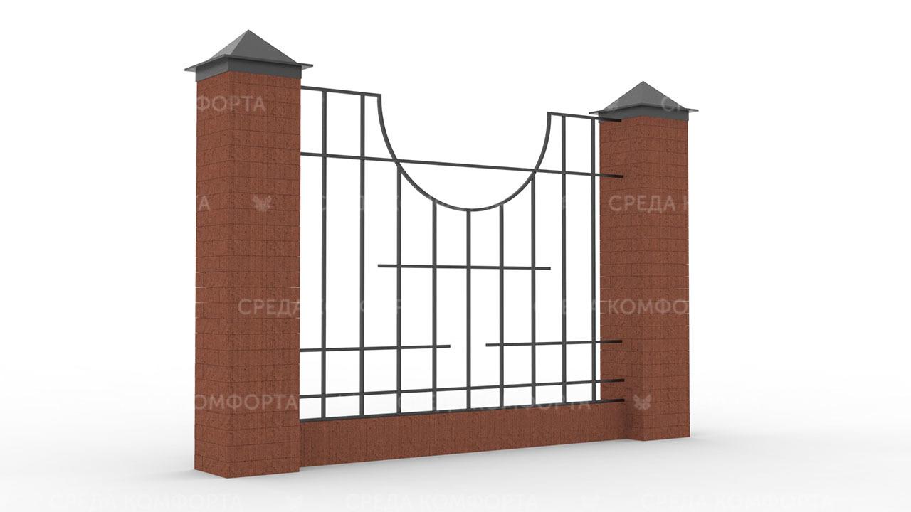 Забор из профильной трубы ZBR0158