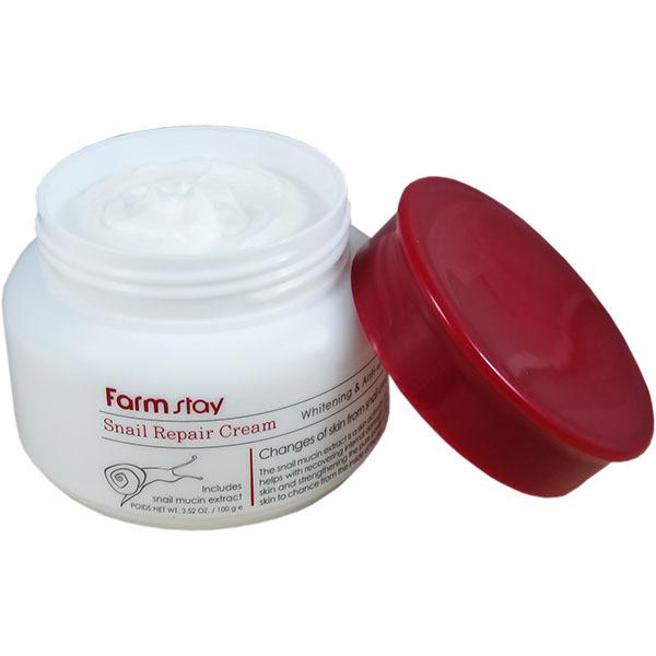 Восстанавливающий крем от морщин на основе улиточной слизи | FarmStay Snail Repair Cream