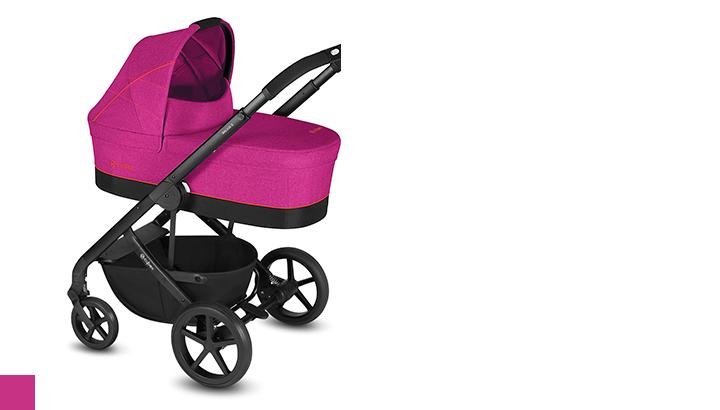 Люлька и прогулочный блок для Cybex Balios S Люлька Спальный блок Balios S balios-cot-s-fancy-pink.png