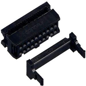 Розетка (IDC-20F ) 2.54мм на шлейф 20 pin с фиксатором кабеля