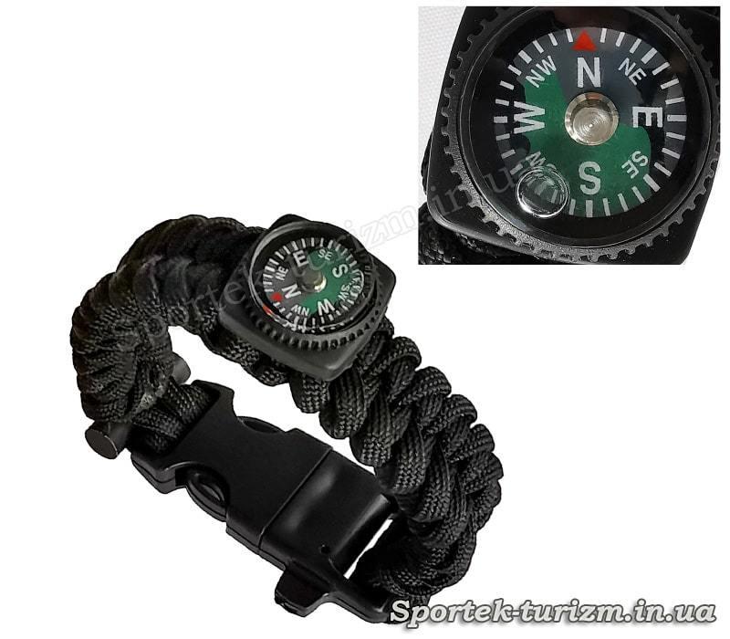 Багатофункціональний аварійний браслет для виживання з компасом, кресалом і свистком