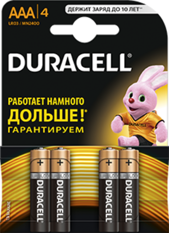 Батарейки Duracell LR03, AAA (12/60) BL*