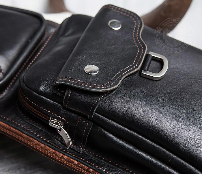 BAG415-1 Крутая мужская сумка рюкзак с одной лямкой, ручная работа фото 03