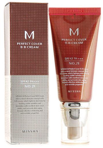 MISSHA Perfect Cover BB-крем с SPF42 Pa+++ 50мл