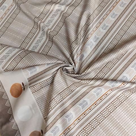 скатерть демодекор скандинавский рисунок бежево-коричневая