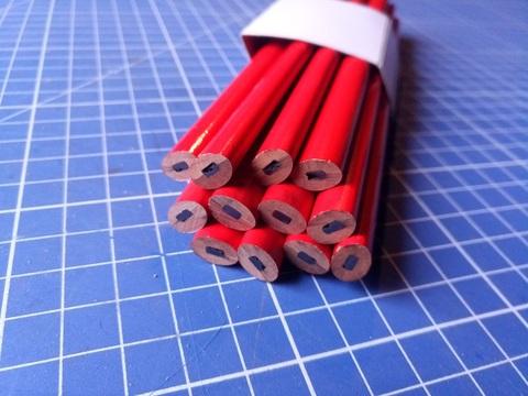 Карандаш строительный 180 мм (12 шт.)