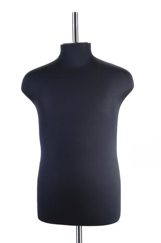 Манекен портновский мужской из стеклопластика 52 размер ОСТ (черный)