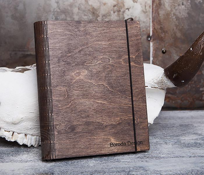 BC133-2 Оригинальный деревянный блокнот на кольцах