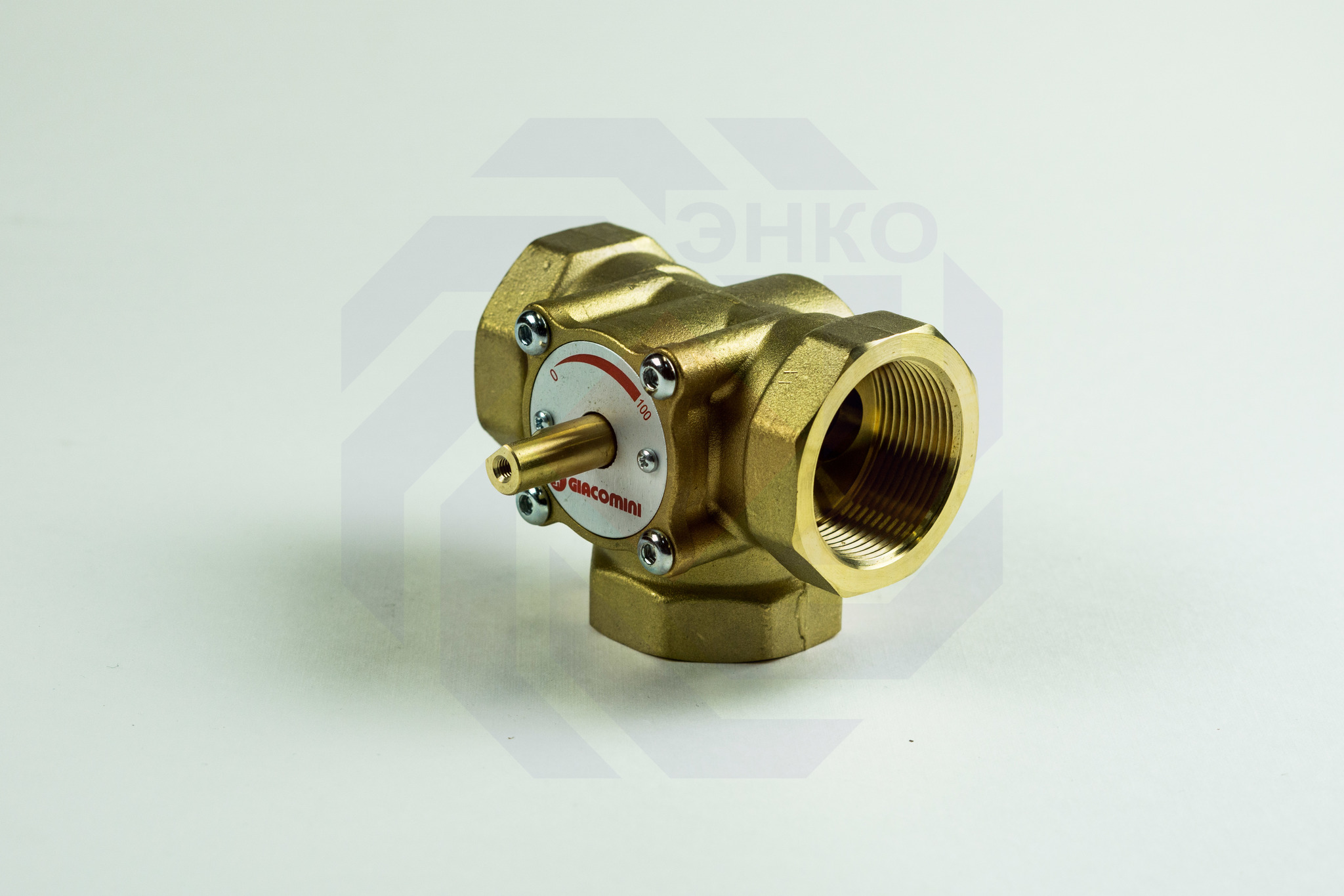 Клапан поворотный трехходовой GIACOMINI R297 1½