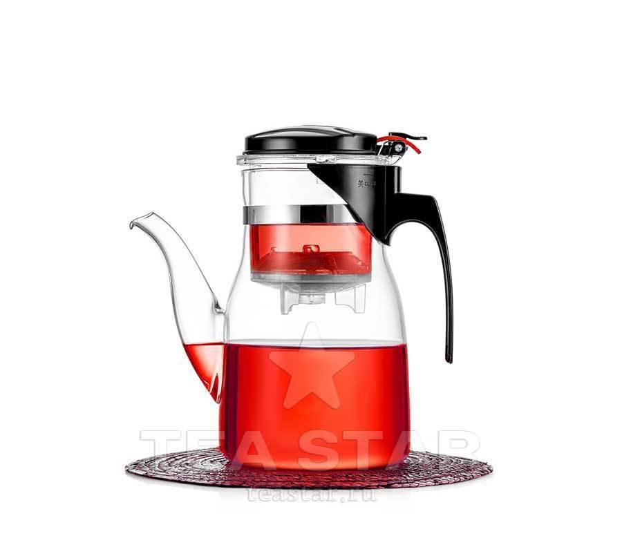 Типоды, Гунфу чайники Стеклянный заварочный чайник  гунфу, 600 мл teapot-tipod-800-600ml-teastar.jpg