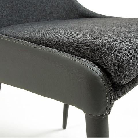 Стул Dant (темно-серый, Pu + ткань)