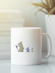 Кружка с рисунком из мультфильма Мой сосед Тоторо (Totoro) белая 003