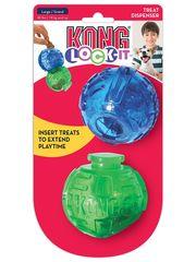Игрушка для собак KONG Lock-It мячи для лакомств, 2 шт.