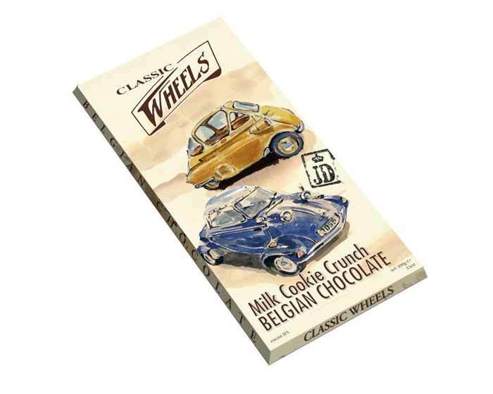 Молочный шоколад Classic Wheels с дробленым печеньем, 100 г