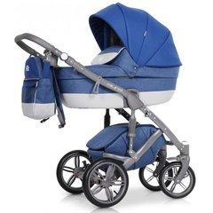 Детская коляска Рант Aura 3 в 1 цвет 04 (серый/синий)