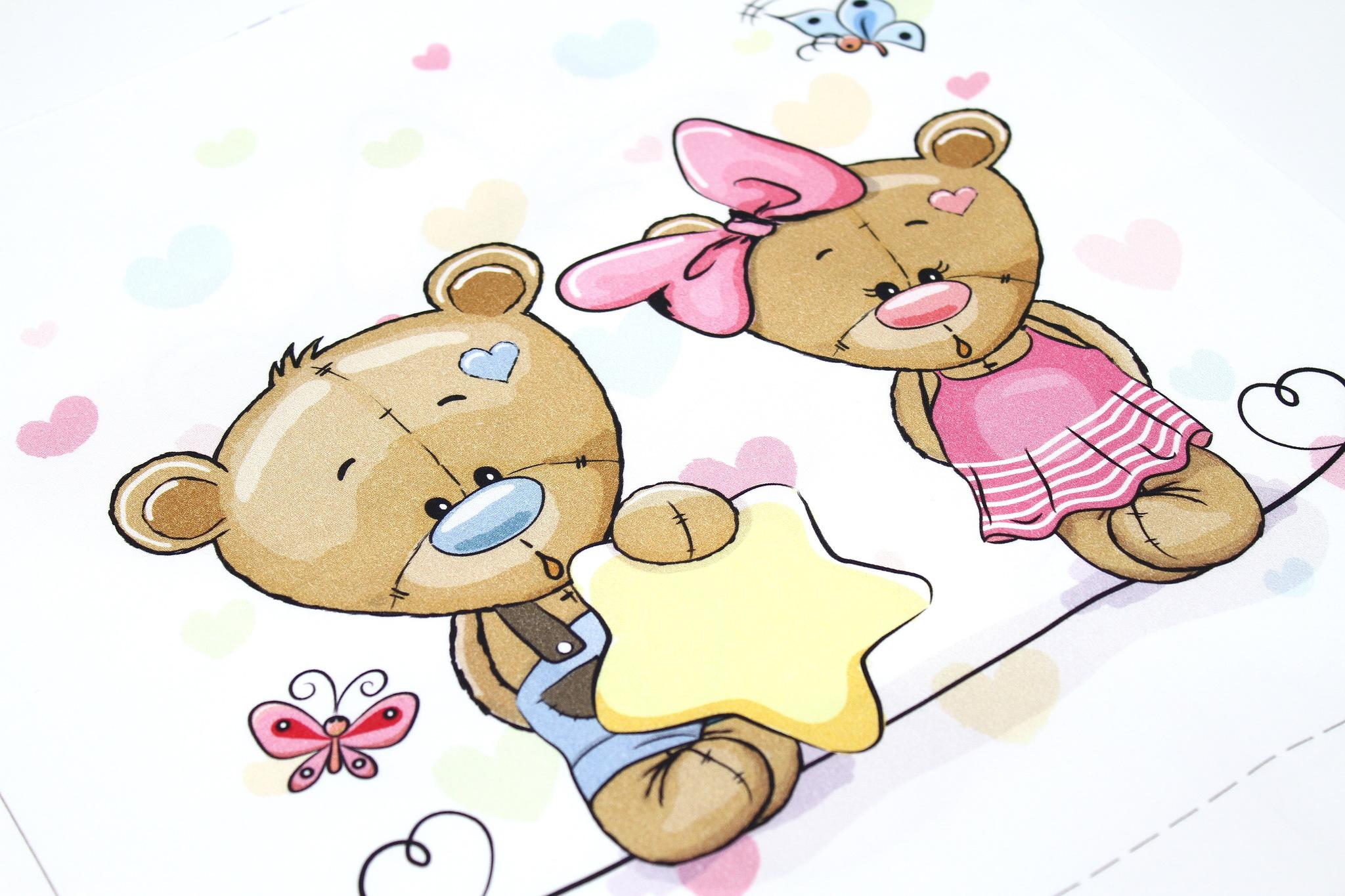 Панель(купон) мишки со звездой-35*35 см, 1 шт.