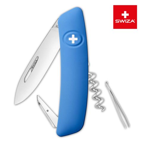 Швейцарский нож SWIZA D01 Standard, 95 мм, 6 функций, синий