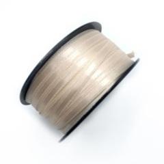Атласная лента 6 мм, серебристый пион