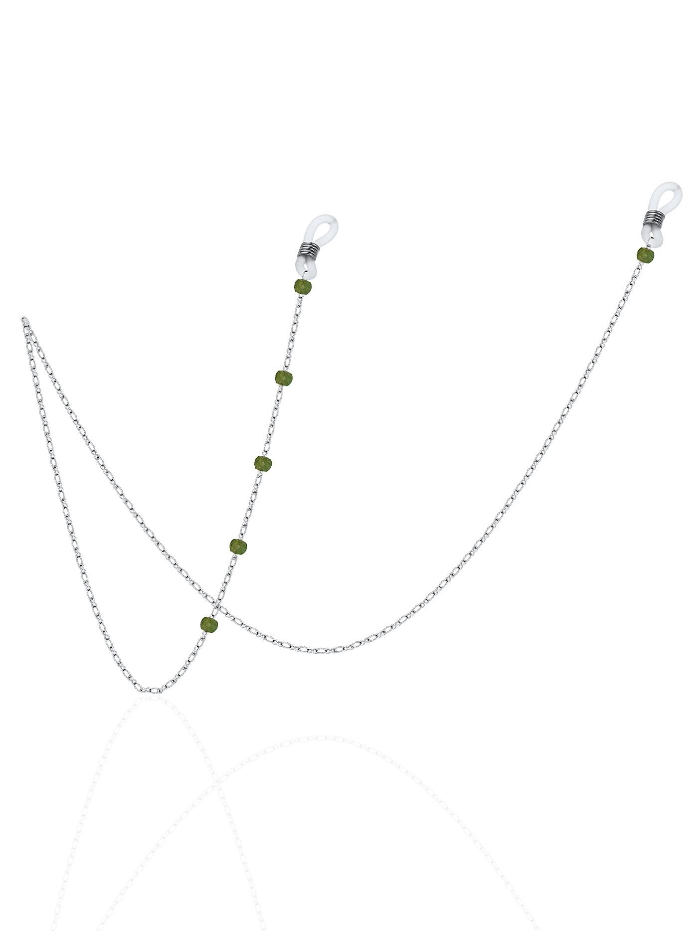 Цепочка для очков с зеленым турмалином