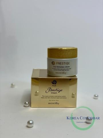 Secret Key Крем восстанавливающий с улиточным муцином - Prestige snail repairing cream, 50г