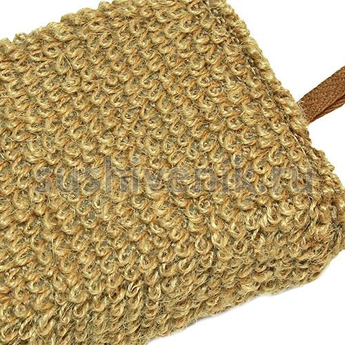 Мочалка - рукавица рами (крапива)