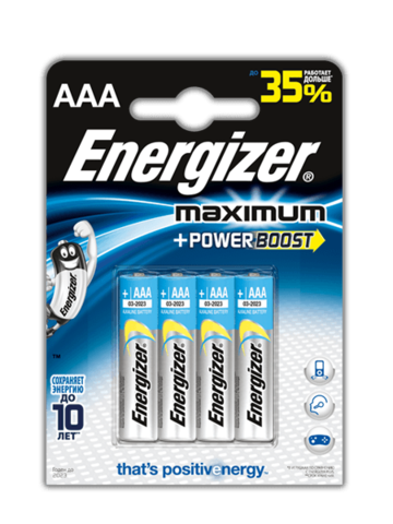 Батарейки Energizer Maximum LR03, AAA (4/48) BL