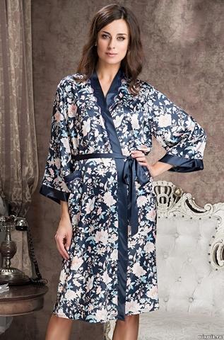 Длинный халат Mia-Amore 5969  EMILIA (70% шелк)