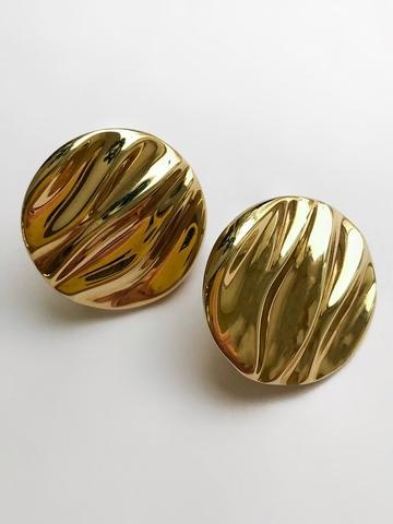Серебряные серьги с позолотой