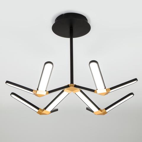Потолочный светодиодный светильник 90147/4 черный/золото