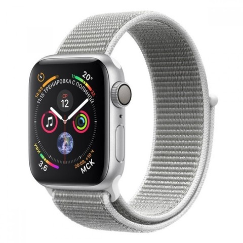 Watch S4 Cellular 40mm Silver Al/White Sport Cellular Loop