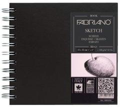 Скетчбук для эскизов на спирали Fabriano