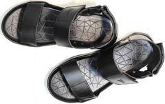 Открытые сандали босоножки кожа Zlett 7083 Black.