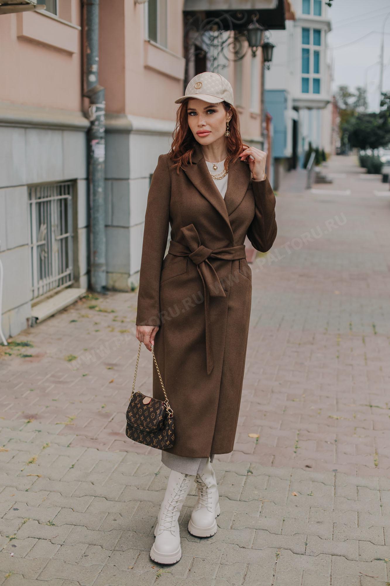 Пальто женское полуприлегающее