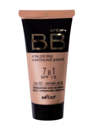 B&V BB cream Крем для лица комплекс дневной 7в1 SPF15 тон 02  30мл
