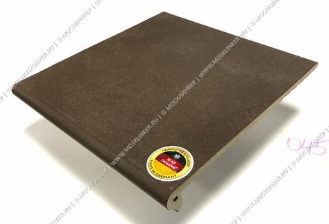 Interbau - Alpen, Engadin/Бурый песок 310x325x9, цвет 045 - Клинкерная ступень - флорентинер