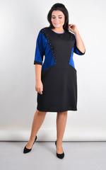 Афіна. Стильна сукня plus size. Електрик.