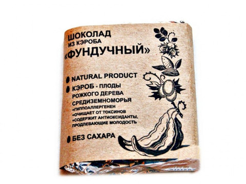 Шоколад из Кэроба Фундучный 50г Био Кухня Урожай