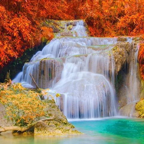 Алмазная Мозаика 30x40 Осенний водопад (арт. GB70436)