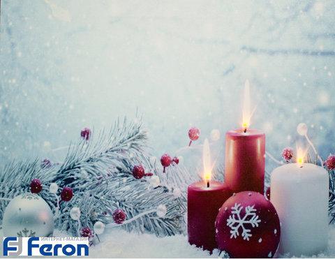 Световая картина «Санта Клаус в лесу» (Feron)